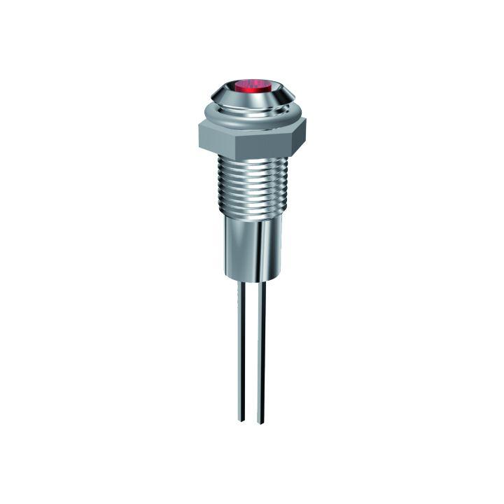 LED-Signalleuchte Ø6mm Innenreflektor, Plankopf-LED
