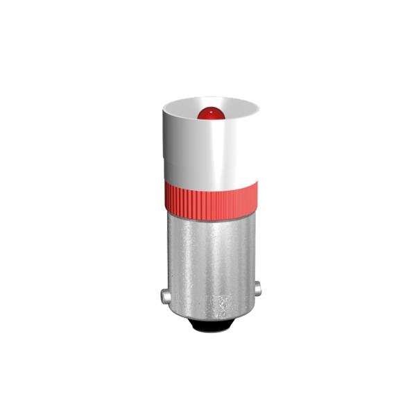 Single-LED Lampe  Ø9,8 mm Sockel BA9s Einweggleichrichtung