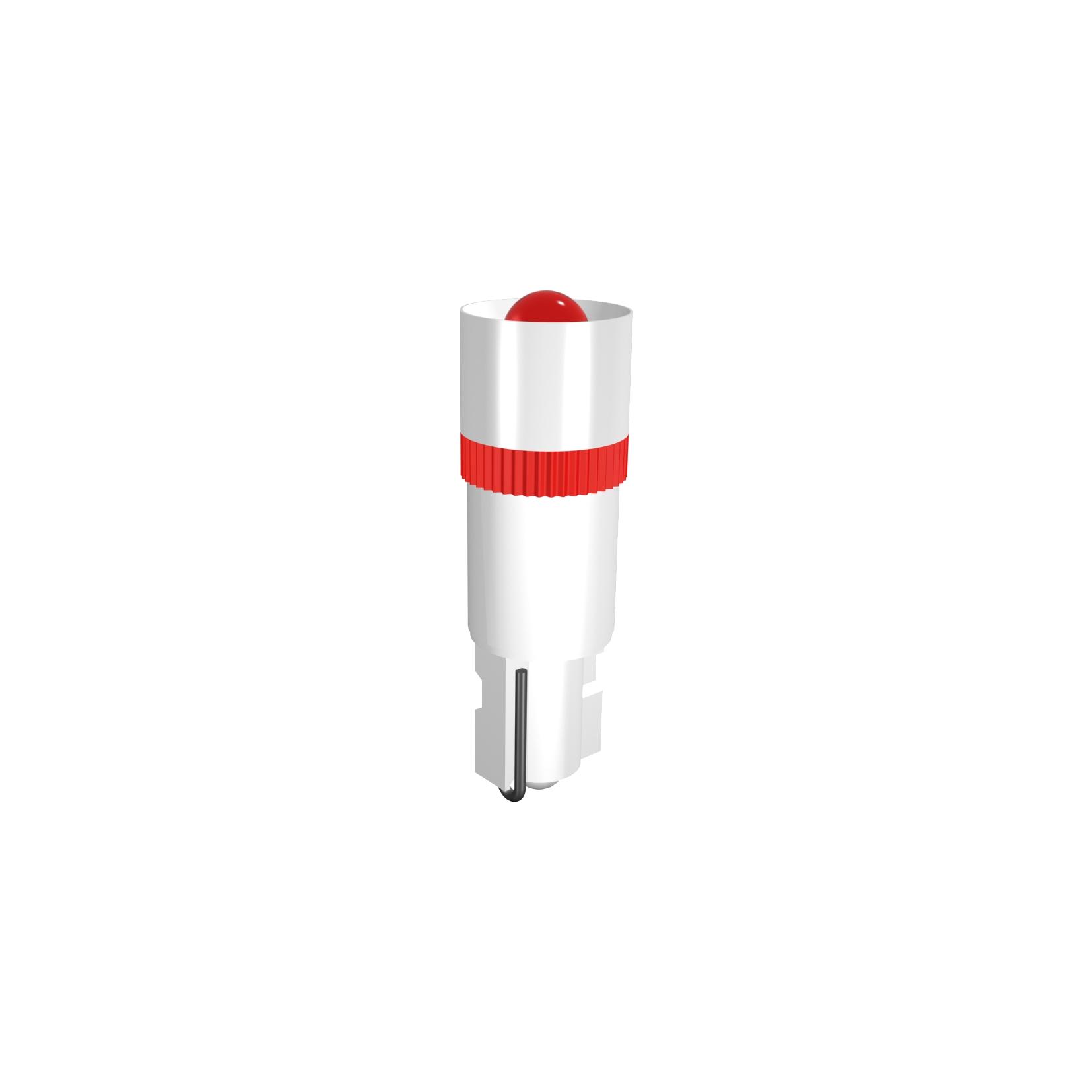 Single-LED Lampe Ø5,6 mm Sockel W2x4,6 Einweggleichrichtung