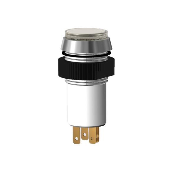 LED-Signalleuchte Ø16mm IP67 mit Blendenkopf zweifarbig