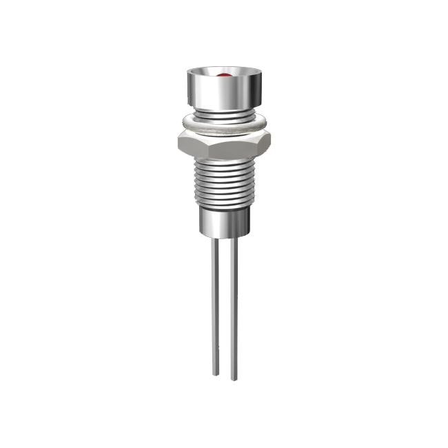 LED-Signalleuchte Ø6mm Innenreflektor Kopf zylindrisch