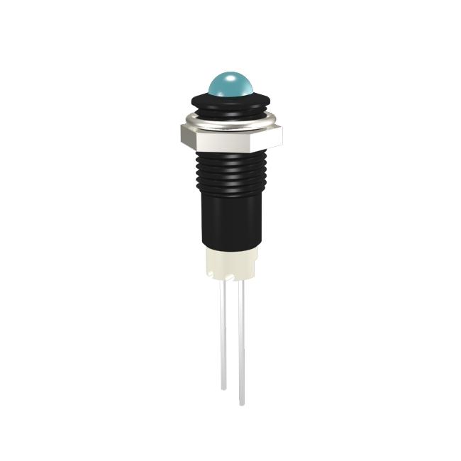 LED-Signalleuchte Ø8mm Außenreflektor PC schwarz