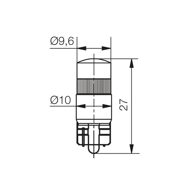 Multi-Look® LED Lampe Sockel W2,1x9,5d - plan
