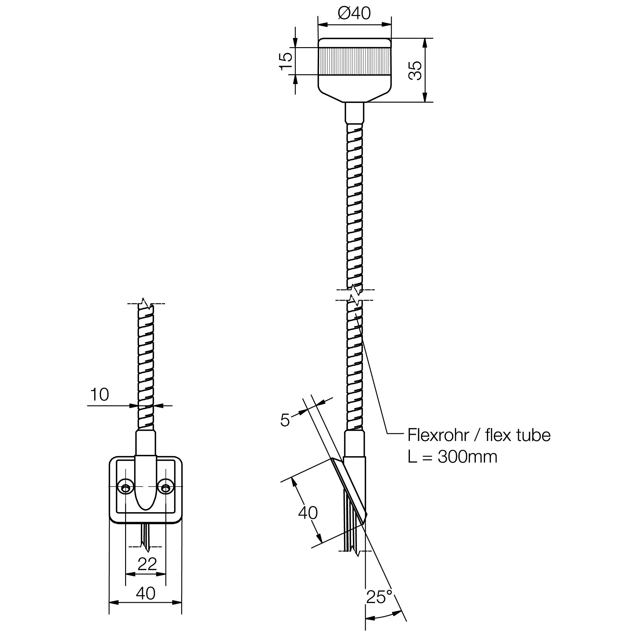LED-Kompakt-Towerlampe mit Befestigungs-Flansch - plan