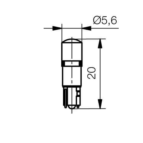 Multi-Look® LED Lampe AC/DC Sockel W2x4,6d - plan