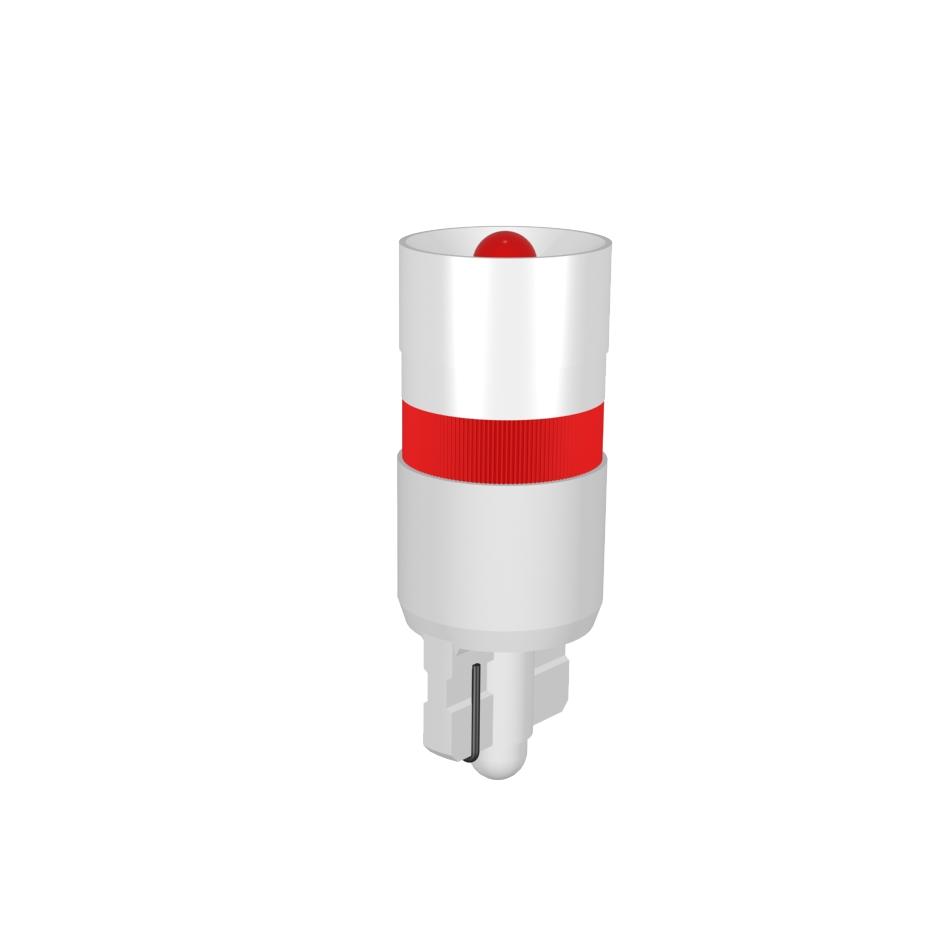Single-LED Lampe  Ø9,8 mm Sockel W2,1x9,5d Einweggleichrichtung