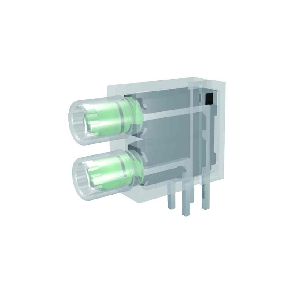 ESD Line-LED-Baustein mit 3mm LED 2-fach