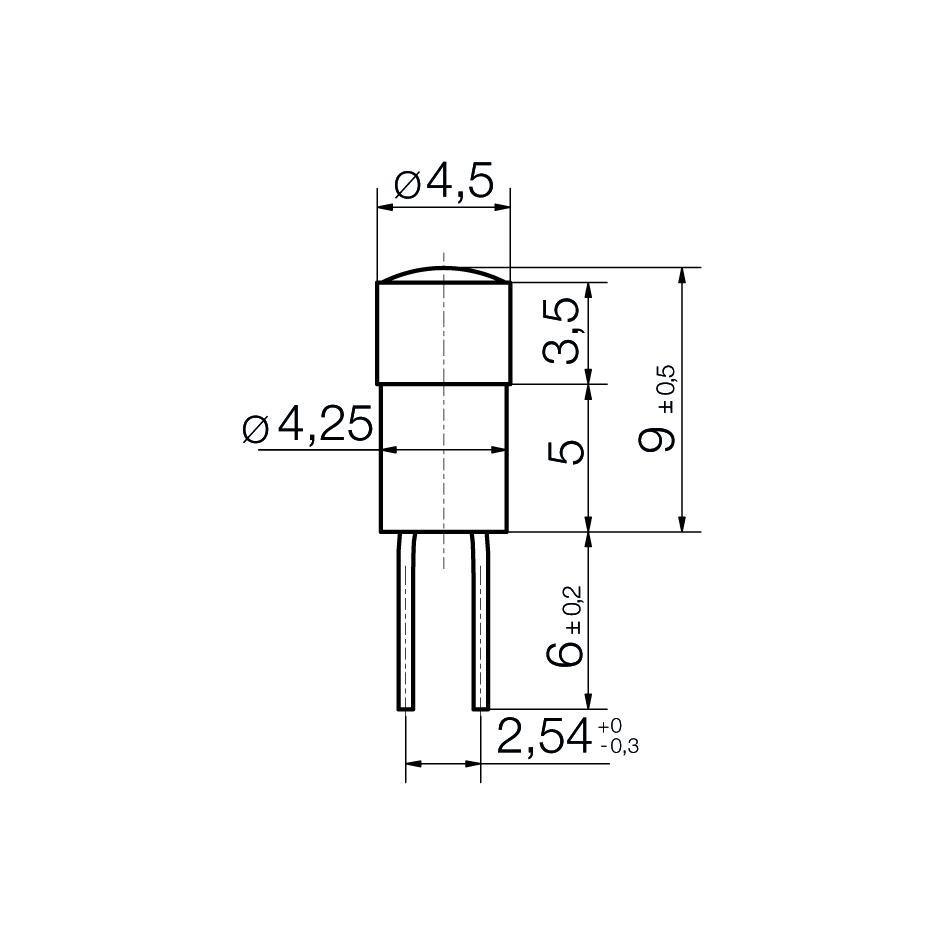 Multi-Look® LED Lampe AC/DC Bi-Pin 4,2 - plan