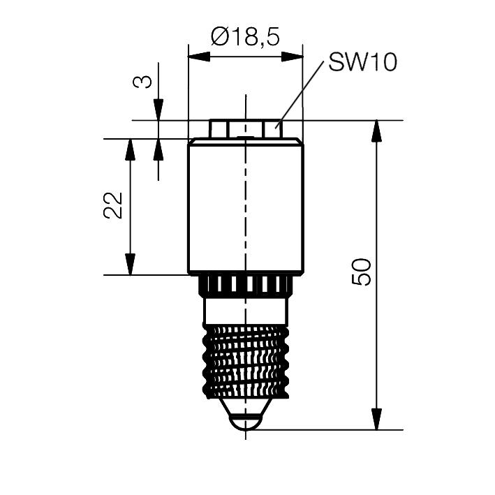 Emergency LED Lamp Sistar® II Socket E14 - plan