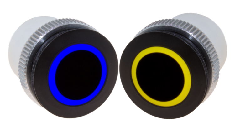 RGB ring light Ø22 mm blue & yellow from Signal-Construct